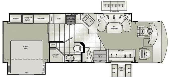Floorplan - 2010 Damon Daybreak 3370