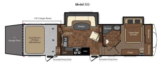 Floorplan - 2010 Keystone RV Fuzion 322