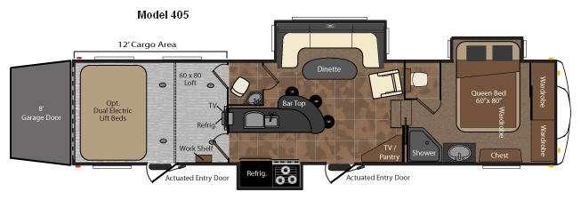 Floorplan - 2010 Keystone RV Fuzion 405