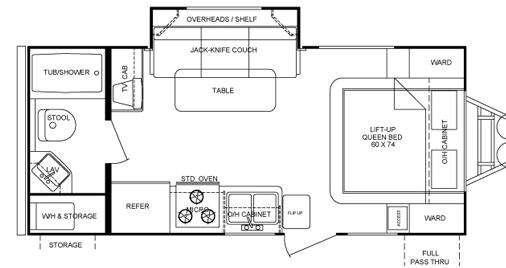 Floorplan - 2010 Cruiser Fun Finder X X-210 WBS