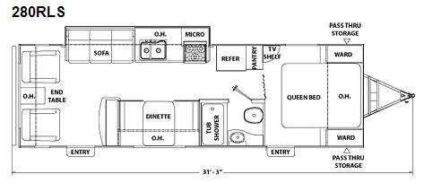 Floorplan - 2010 Coachmen RV Freedom Express 280RLS