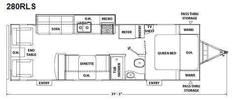 Floorplan - 2010 Coachmen RV Freedom Express 280RLS
