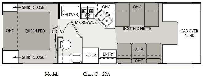 Floorplan - 2010 Four Winds RV Four Winds 28A