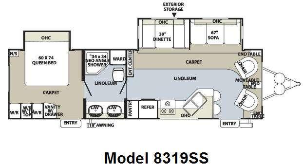 Floorplan - 2010 Forest River RV Rockwood Signature Ultra Lite 8319SS