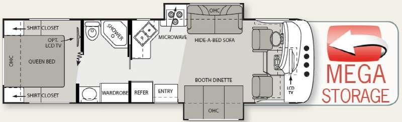 Floorplan - 2010 Four Winds RV Hurricane 31D
