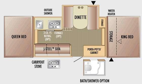 Floorplan - 2010 Jayco Jay Series 1206