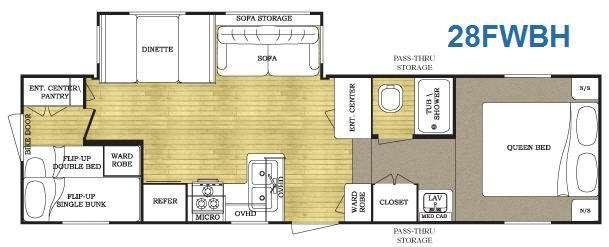 Floorplan - 2010 Gulf Stream RV Conquest 28FWBH