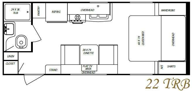 Floorplan - 2010 Gulf Stream RV Streamlite Sport 22 TRB