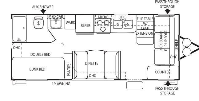 Floorplan - 2009 Forest River RV Salem T21CKL