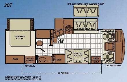 Floorplan - 2010 Fleetwood RV Bounder 30T