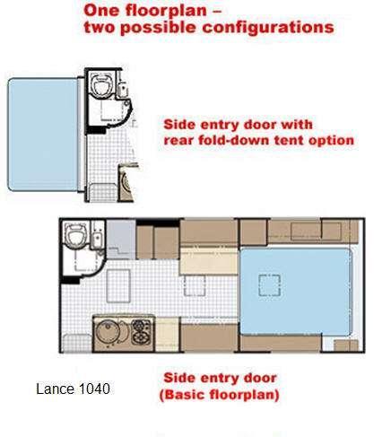 Floorplan - 2009 Lance 1040