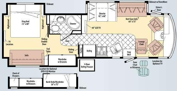 Floorplan - 2010 Winnebago Adventurer 35Z