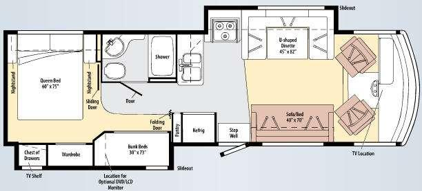 Floorplan - 2010 Winnebago Vista 32K
