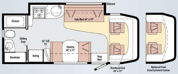 Floorplan - 2010 Winnebago View 24K