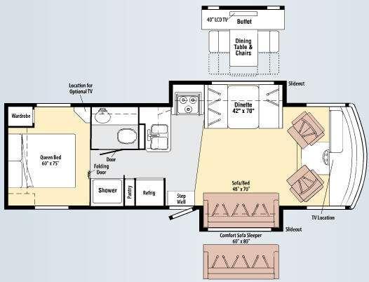 Floorplan - 2010 Winnebago Vista 30W