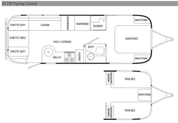 Floorplan - 2010 Airstream RV Flying Cloud 27 FB