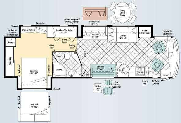 Floorplan - 2010 Winnebago Journey Express 39N