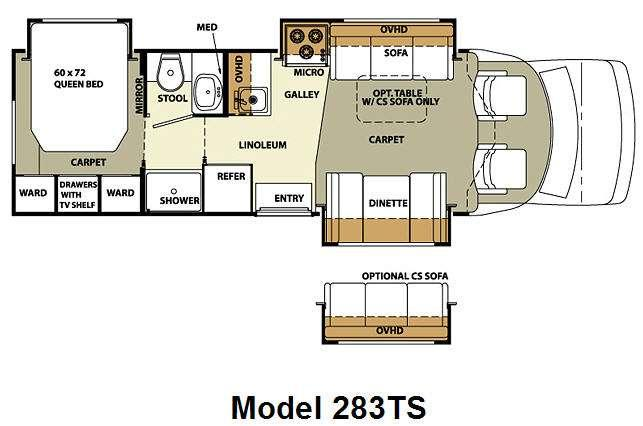 Floorplan - 2010 Forest River RV Lexington 283TS