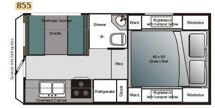 Floorplan - 2009 Eagle Cap Campers Eagle Cap 855