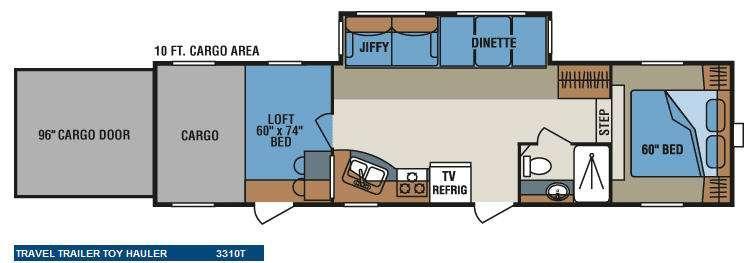 Floorplan - 2010 KZ Inferno SST 3310T