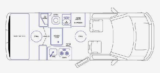 Floorplan - 2009 Pleasure-Way Lexor TS