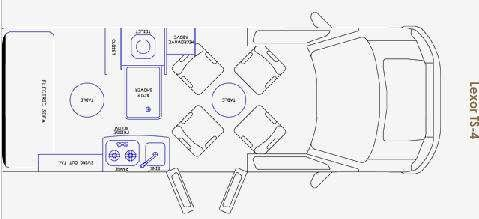 Floorplan - 2009 Pleasure-Way Lexor RL4 TS-4