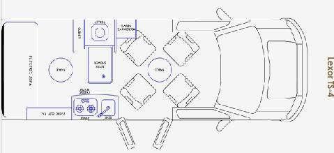 Floorplan - 2009 Pleasure-Way Lexor RL4 TS-4