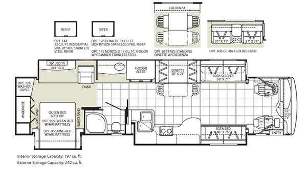 Floorplan - 2010 Fleetwood RV Providence 40T