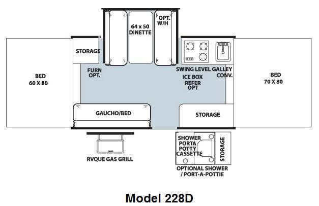Floorplan - 2010 Forest River RV Flagstaff MAC LTD Series 228D