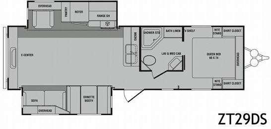Floorplan - 2010 CrossRoads RV Zinger ZT29DS