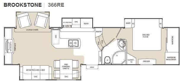 Floorplan - 2010 Coachmen RV Brookstone 366RE