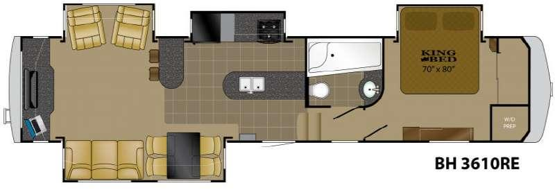 Floorplan - 2011 Heartland Bighorn 3610RE