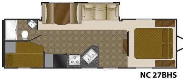 Floorplan - 2011 Heartland North Country 27BHS
