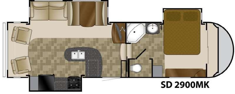 Floorplan - 2011 Heartland Sundance 2900MK