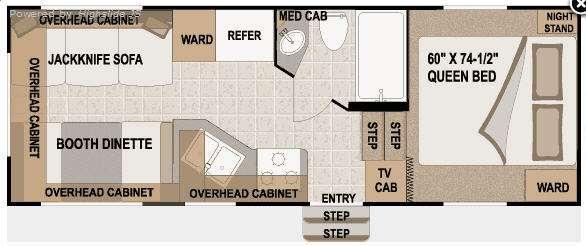 Floorplan - 2010 Nash 21-5R Fifth Wheel