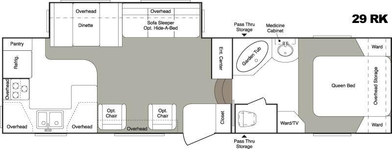 Floorplan - 2006 Keystone RV Laredo 29RK
