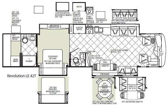 Floorplan - 2010 Fleetwood RV Revolution LE 42T
