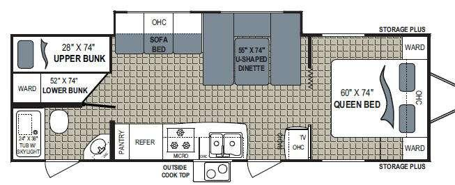Floorplan - 2010 Dutchmen RV Kodiak 28BH-SL