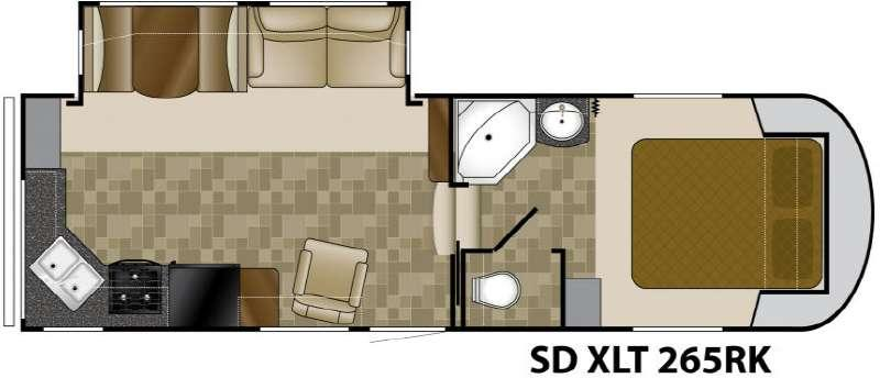 Sundance XLT 265RK Floorplan
