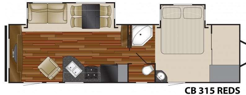 Floorplan - 2011 Heartland Caliber 315 REDS