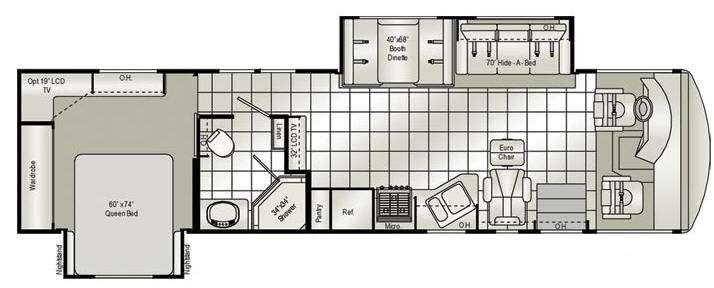 Floorplan - 2010 Damon Daybreak 36SD
