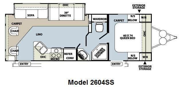 Floorplan - 2011 Forest River RV Rockwood Ultra Lite 2604SS