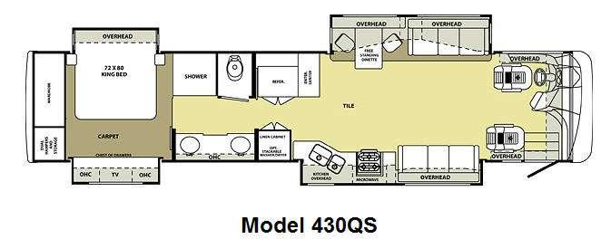 Floorplan - 2011 Forest River RV Charleston 430QS