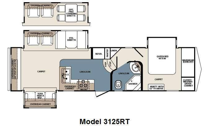 Floorplan - 2011 Forest River RV Blue Ridge 3125RT