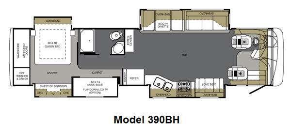 Floorplan - 2011 Forest River RV Berkshire 390BH