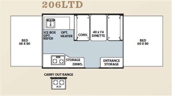 Floorplan - 2011 Forest River RV Flagstaff MAC LTD Series 206LTD