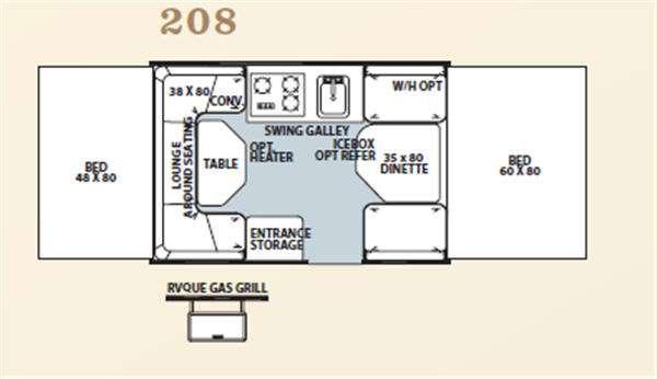 Floorplan - 2011 Forest River RV Flagstaff MAC LTD Series 208