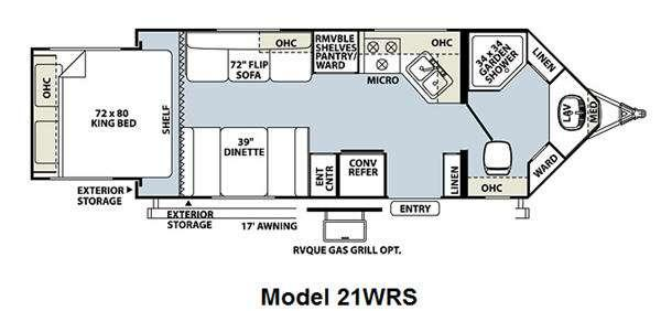 Floorplan - 2011 Forest River RV Flagstaff V-Lite 21WRS