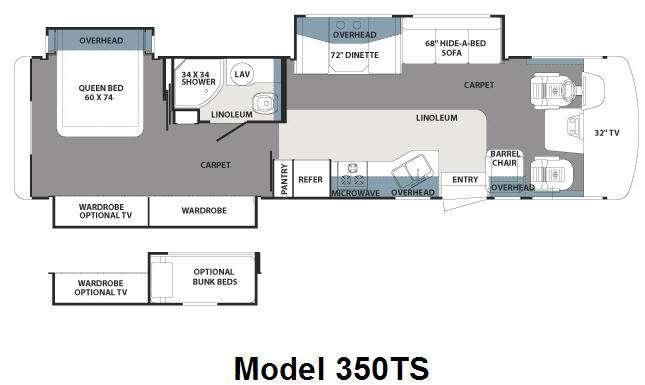 Floorplan - 2011 Forest River RV Georgetown 350TS