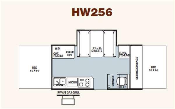 Floorplan - 2011 Forest River RV Rockwood High Wall Series HW256